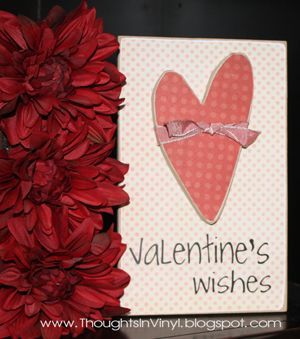 vinyl valentine crafts | More Craft kits (Valentine's Day and St. Patrick's Day) | Thoughts ...