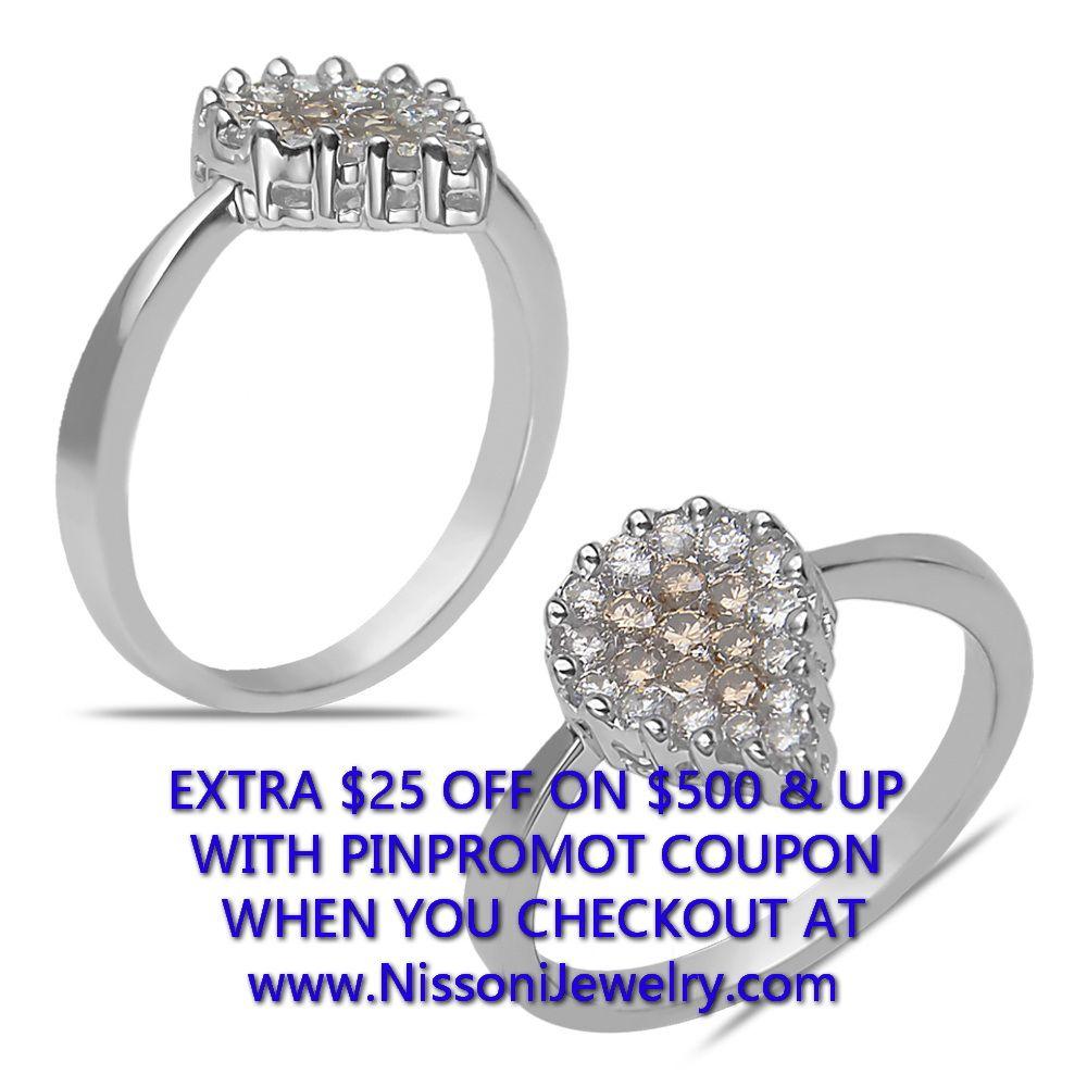 NissoniJewelry.com presents - Ladies' 1/2CT Brown and White Diamond Pear Shape Ring in 14k White Gold    Model Number:FRV2194H-W42377    Price:$499.99    https://nissonijewelry.com/jewelry/ladies-1/2ct-brown-and-white-diamond-pear-shape-ring-in-14k-white-gold/frv2194h-w42377.html