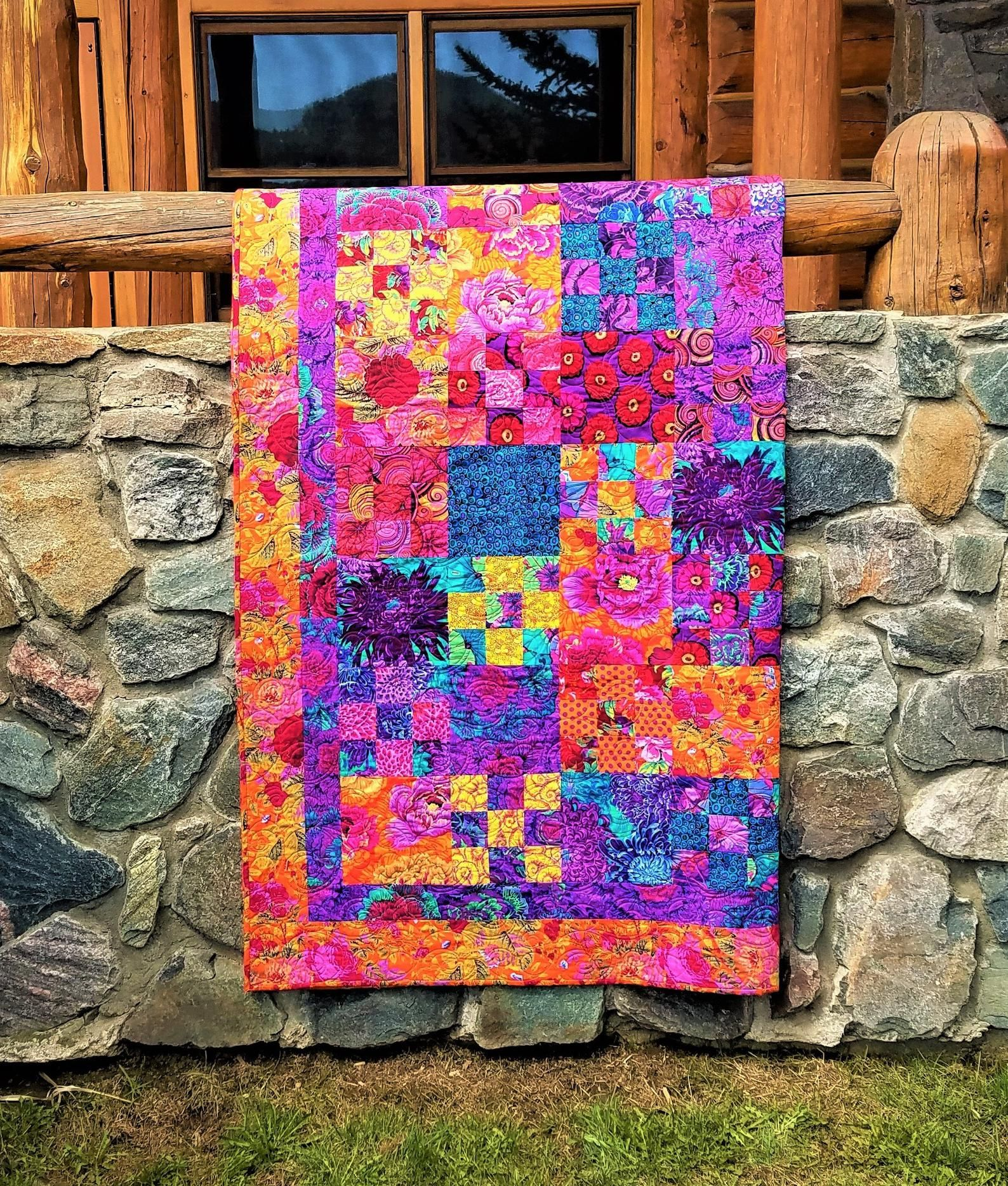 Ode To The Sunset Kaffe Fassett Inspired Quilt Embolded By Etsy Quilts Colorful Quilts Quilt Patterns