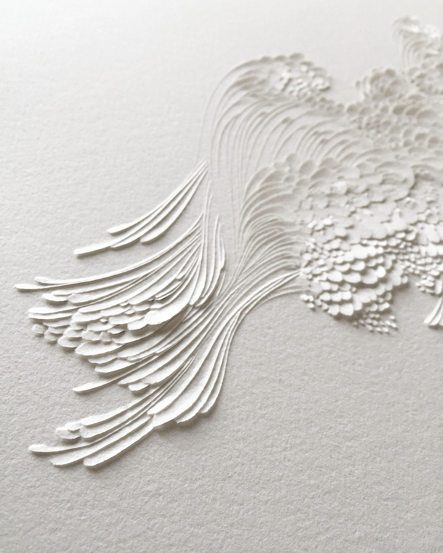 Bas Relief En Papier Aquarelle Grain Satine C Lauren Collin With
