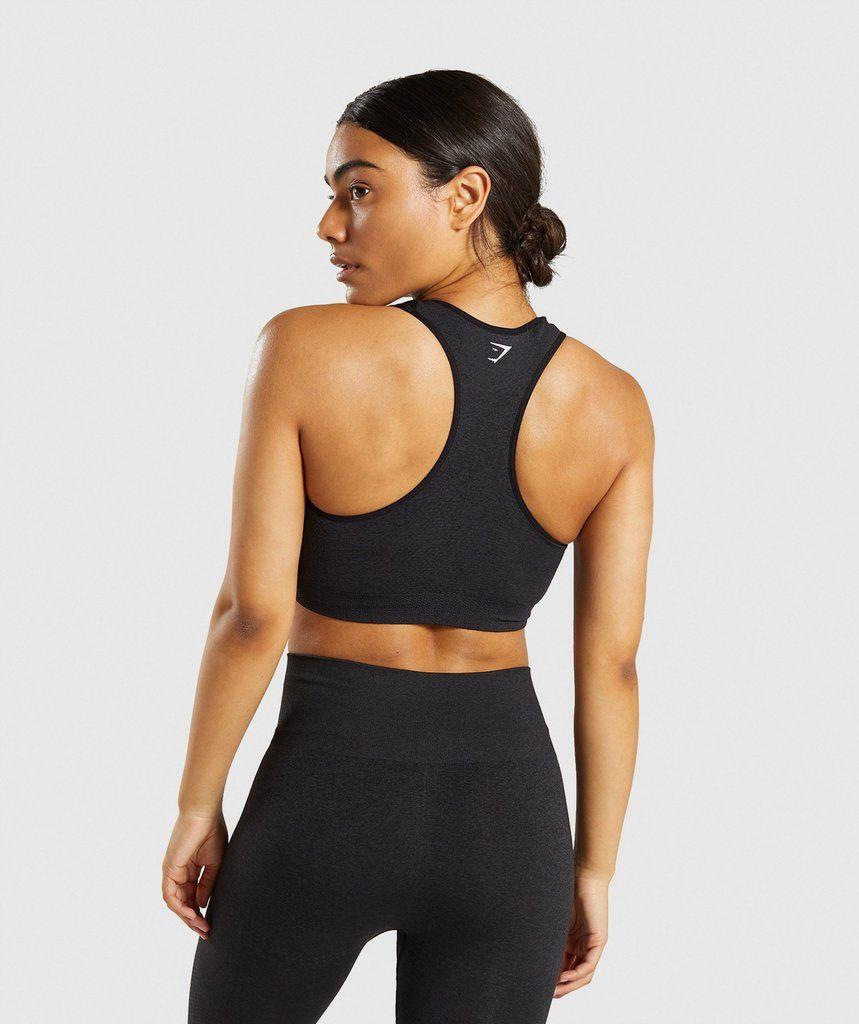 80129d588f12d0 Gymshark Vital Seamless Sports Bra - Black Marl 2