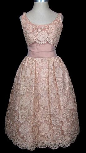 Vintage Dior lace dress. This would be perfect for a garden party.