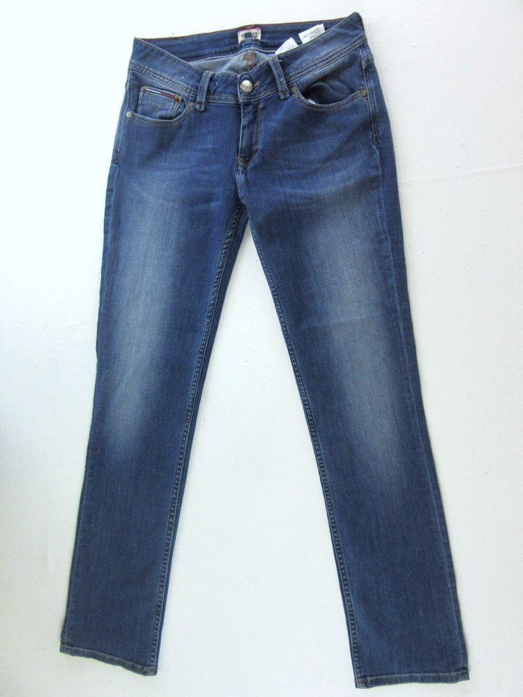4075da312 TOMMY HILFIGER SUZZY NMST blue denim wash jeans SLIM STRAIGHT LEG w29