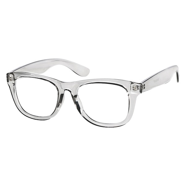 41e6b077d50 Zenni Square Prescription Eyeglasses Gray Other Plastic 124112 in ...