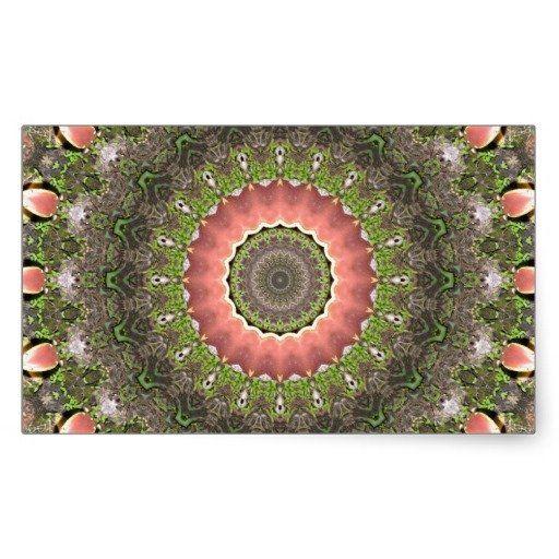 Pink & Green Mandala Design Stickers