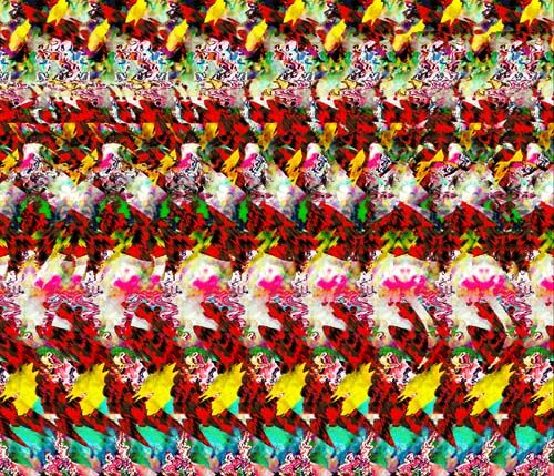 Hidden 3d Picture Puzzles Once Constructed A Magic Eye Image Is Printable By Any Conventional Eye Illusions Magic Eye Pictures Magic Eye Posters