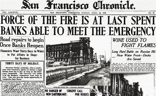 1906 san francisco earthquake research paper San francisco earthquake, 1906 on the morning of april 18, 1906, a massive earthquake shook san francisco, california though the quake lasted less than a.