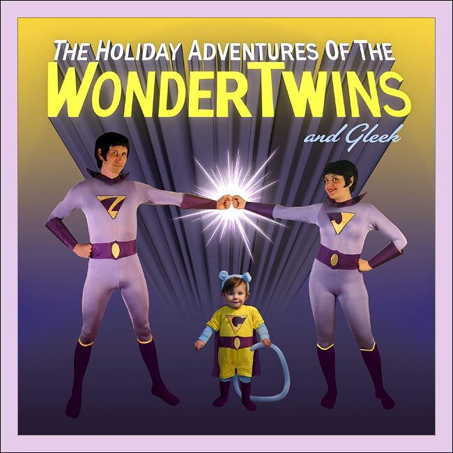 Wonder twins and gleek costume for the whole family!