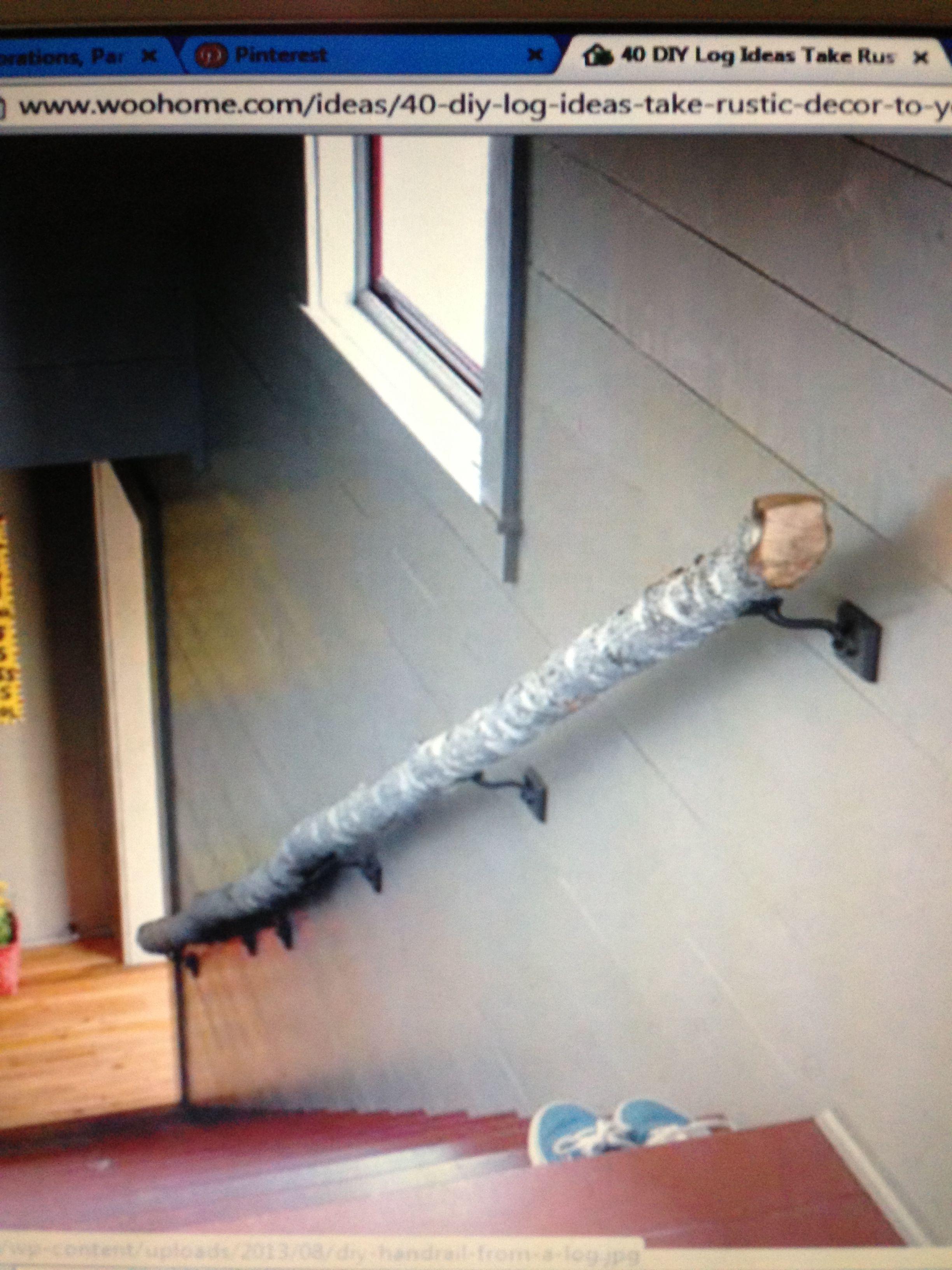 Best Natural Branch Stair Rail Stair Railing Home Decor 400 x 300