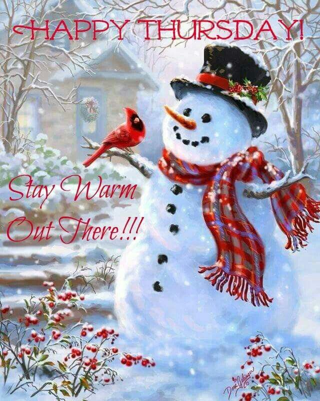 Happy Thursday! Stay warm y'all!