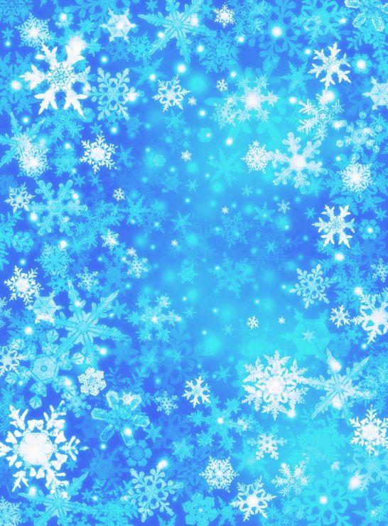 красивая однотонная картинка со снежинками отлично