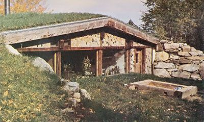 The log end cave an earth sheltered cordwood house for How to build an earth sheltered home