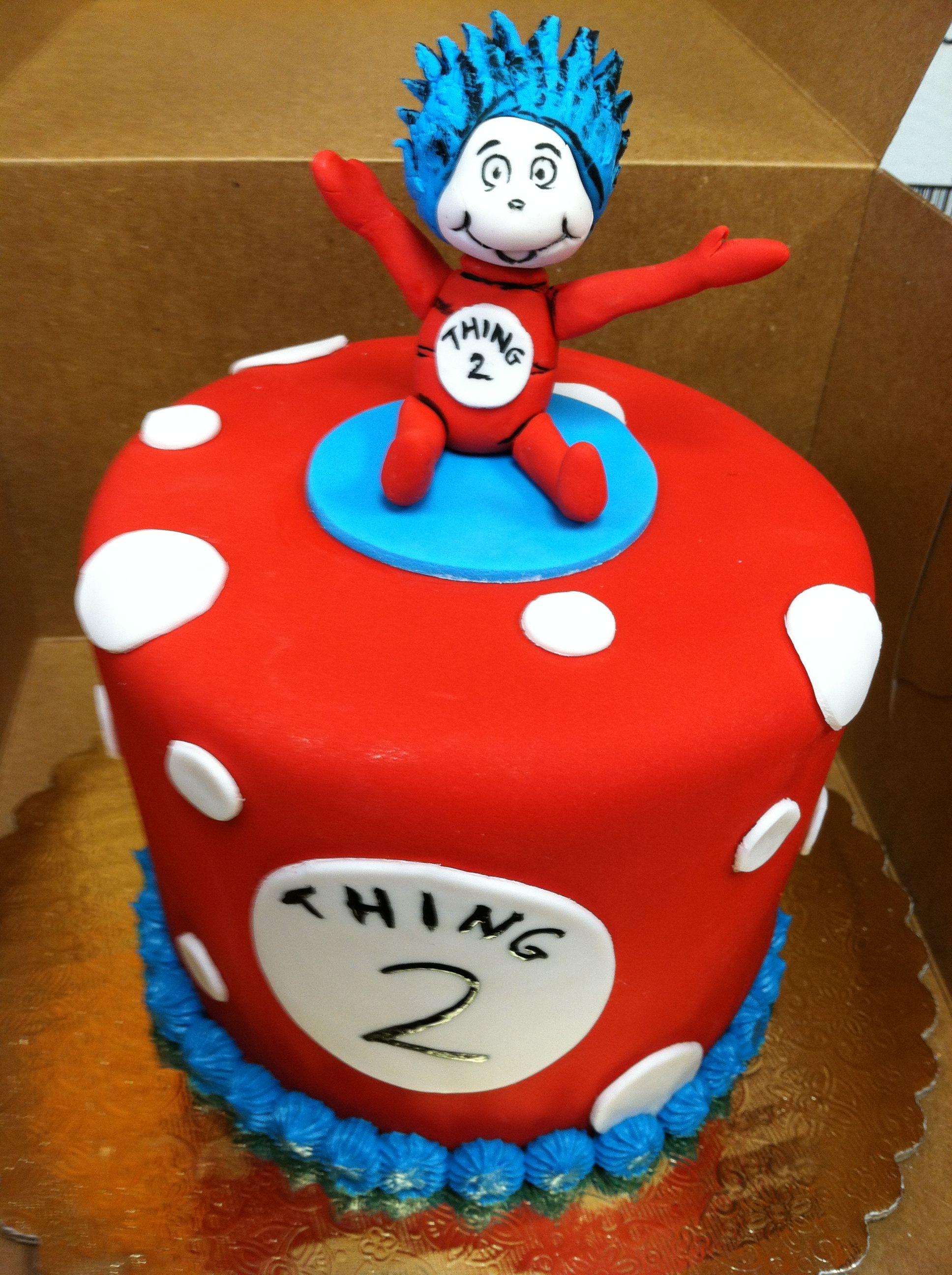 Thing 1 Thing 2 Cake Cakedlasvegas 1st Birthday Parties Cake