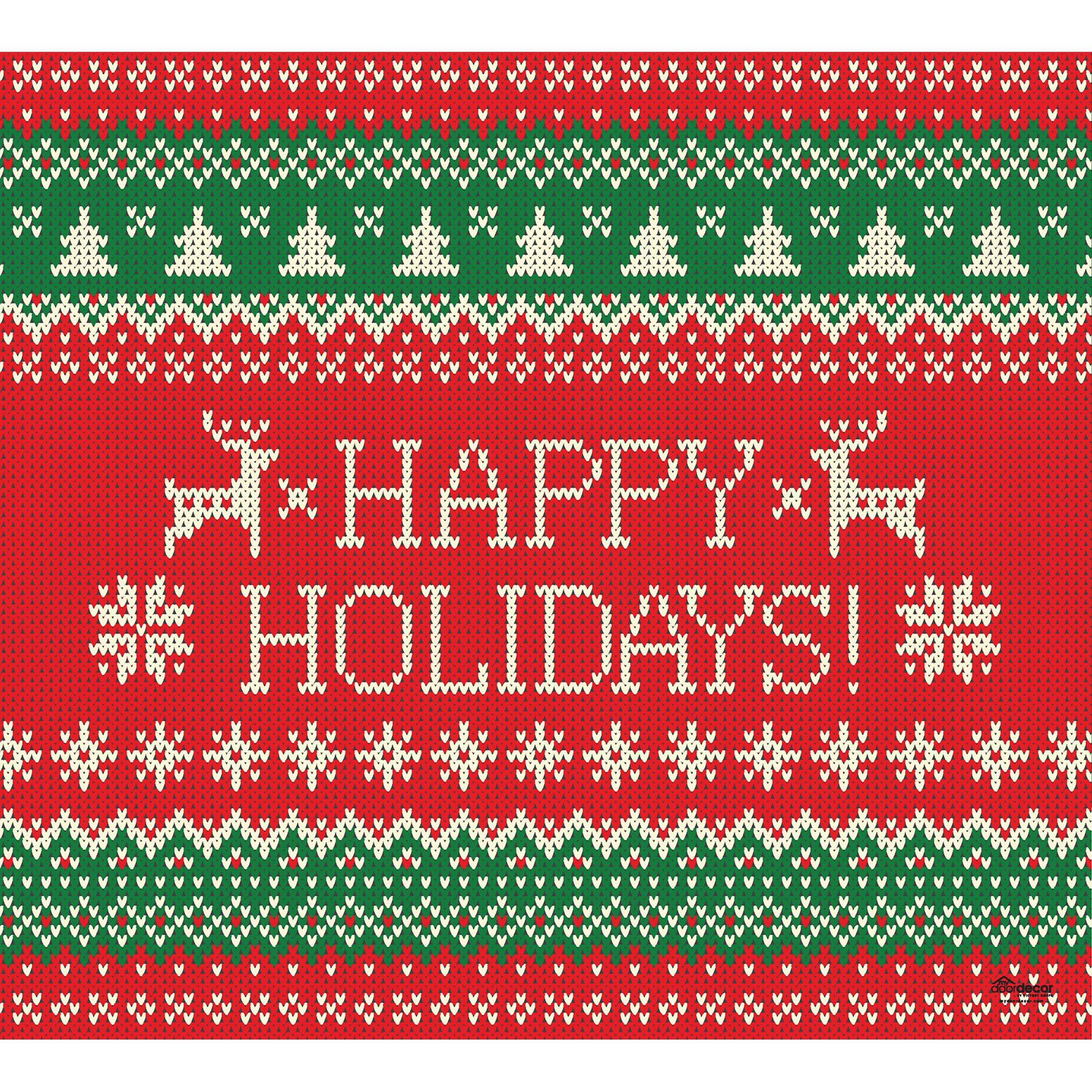 Ugly Sweater: Happy Holidays - Garage Door Vinyl Banner | Shop Fathead® for Christmas Gifts #halloweendoordecor