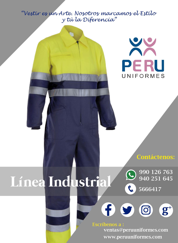 PERU UNIFORMES Los uniformes Industriales 3d372bb30fc8e