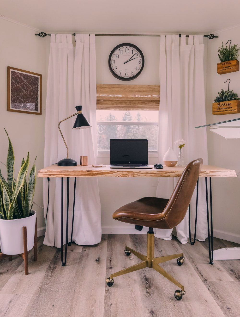 She Explains Her Exact Process For Designing This Small Home Office For Two In Their Rv Makeove In 2020 Home Office Setup Home Office Decor Small Home Office