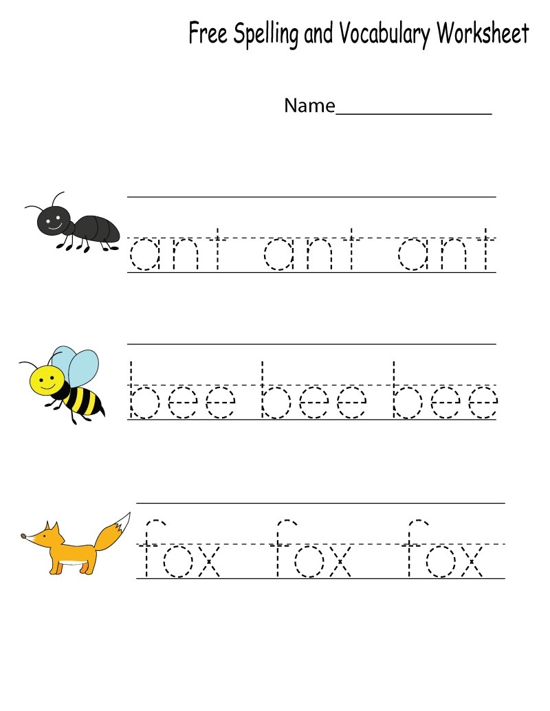 Kindergarten Worksheets PDF Free Download Vocabulary