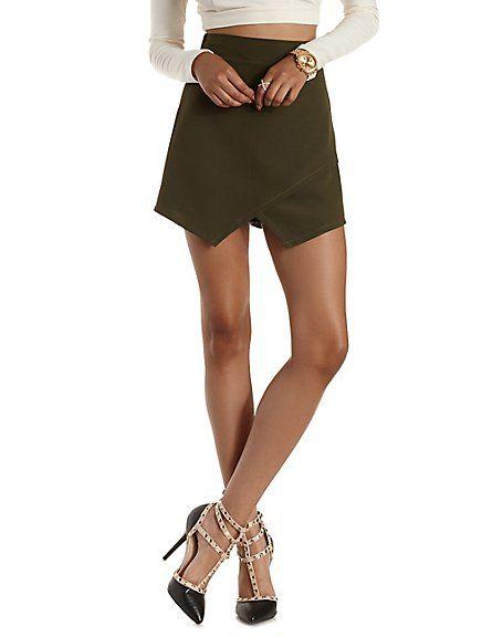 Asymmetrical Envelope Wrap Shorts