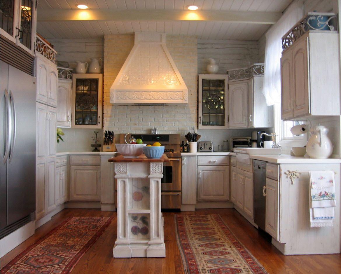 Ideen für küchenhauben küche mit einer fläche von  quadratmetern m  tatsächliches design