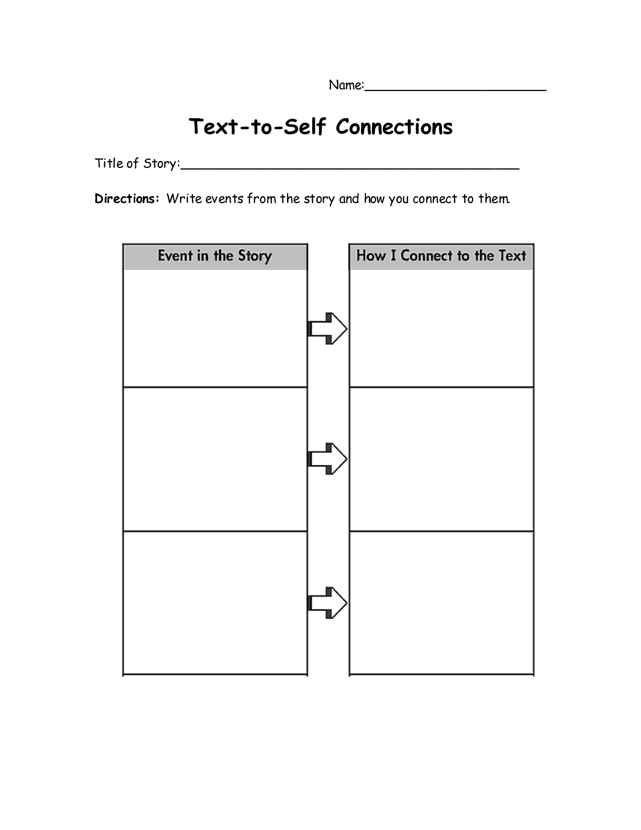 Connect The Text Worksheets