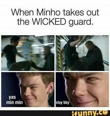 When Minho takes out the WICKED guard. – popular memes on the site iFunny.co #mazerunner #movies #minmin #tmr #newt #minho #when #takes #wicked #guard #pic