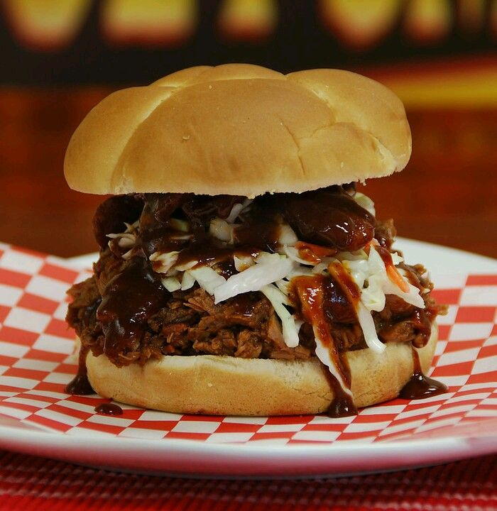 Holy Smokes' Pulled Pork Sandwich