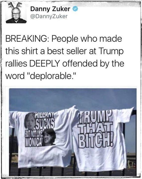 Trump supporters prove Clinton is Right!!                                                                                                                                                                                 More
