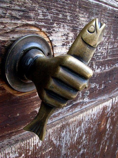 Antique Door Knocker Iu0027ve Got A Fish In My Hand Now Let Me In