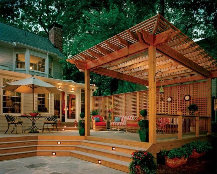 terrasse extérieure en 18 photos: laquelle avez-vous choisi ... - Deck And Patio Ideas Designs