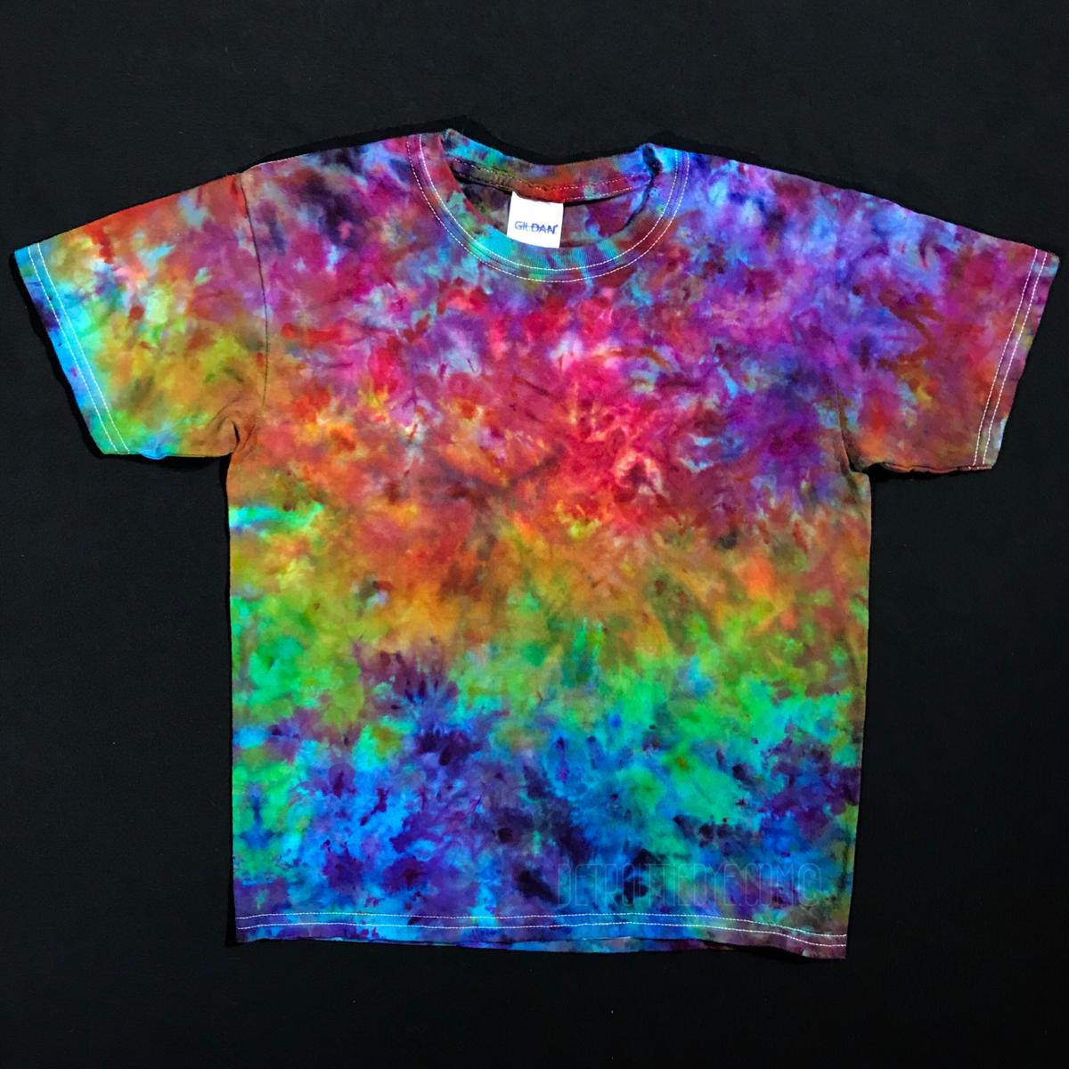 Youth Small Rainbow Splatter Ice Dye T Shirt Tie Dye Tutorial Tie Dye Diy Tie Dye Patterns