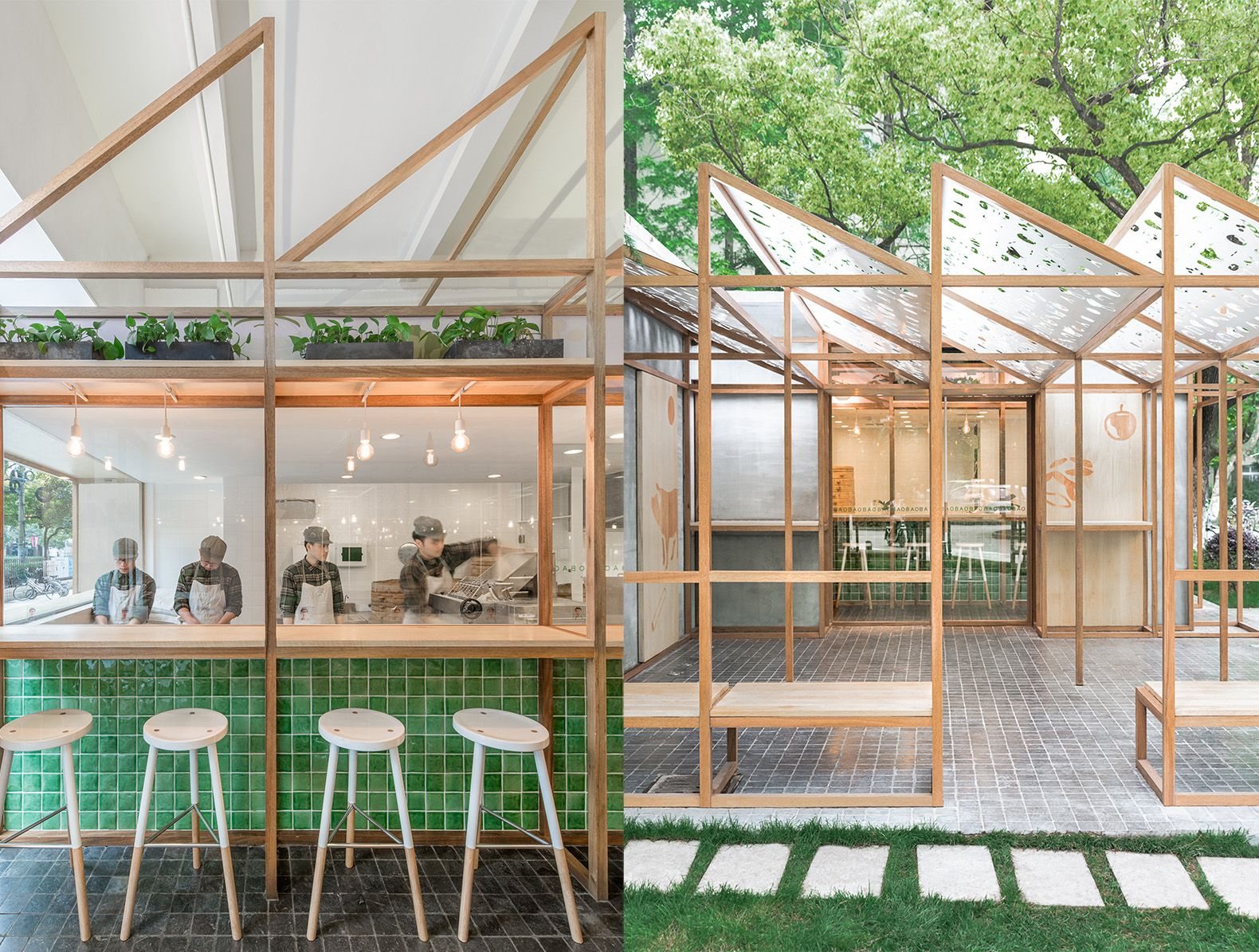 Stylish Shanghai Eatery Promotes The Goodness Of Their Food With A Greenhouse Like Design Restaurant Architecture Restaurant Design Restaurant Interior Design
