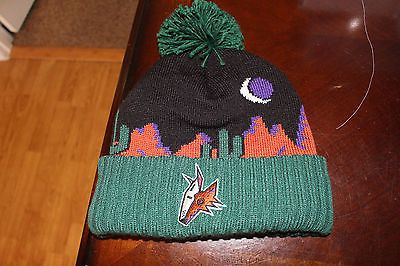 CCM-Vintage-Authentic-Beanie-Phoenix-Coyotes-Green-Desert-Scape-hat-winter -NWT 730cccdf17f2