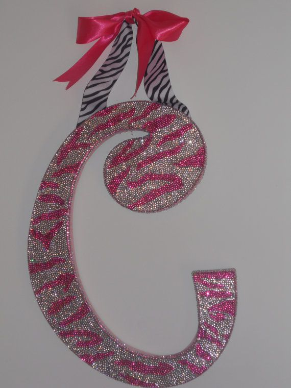 RHINESTONE Decorative Wall Letters Nursery Decor Baby By Sastara ~ Do Letter,  Initials, Full