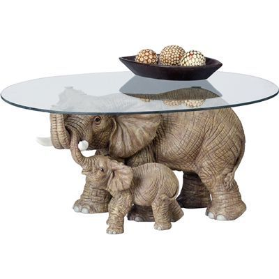 you should see this elephant's majesty coffee table in gray on
