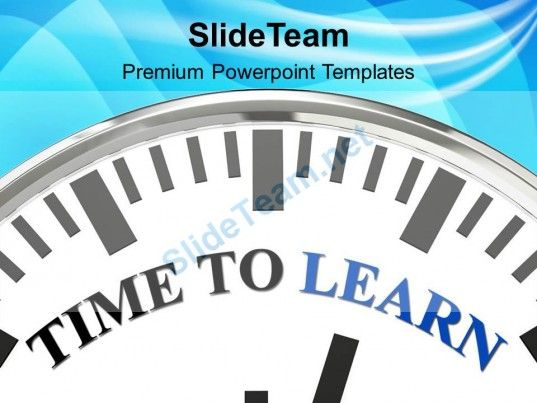 Time to learn innovation powerpoint templates ppt themes and business powerpoint templates toneelgroepblik Choice Image