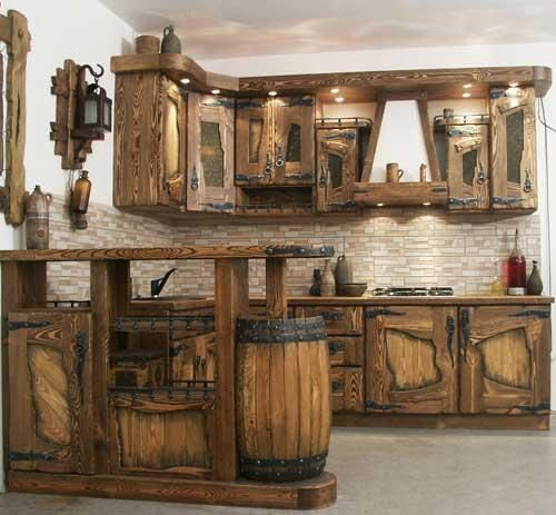 Kitchen Cabinets Look Like Furniture: Not Only Does It Look Like A Dwarf's Cabin, It Would Be A