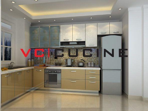 Simple Design L Shape Kitchen Set