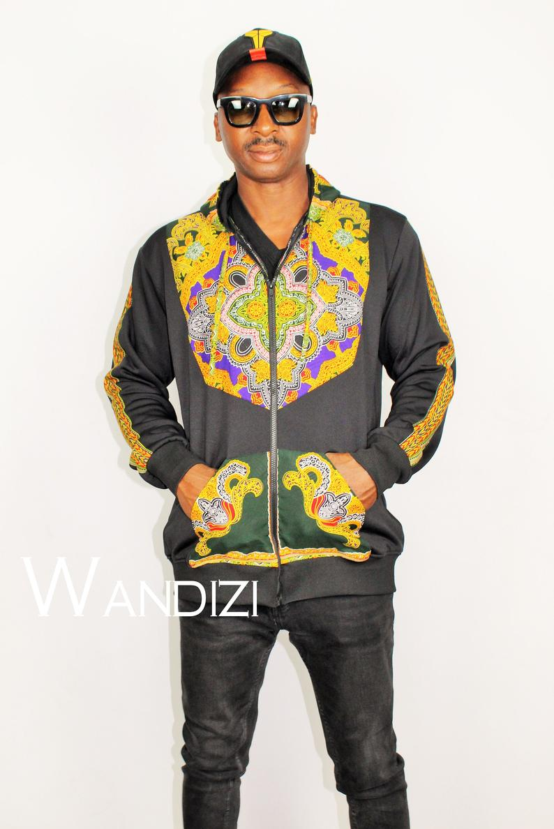 Dashiki Hooded Jacket, African Print jacket, Gift For Him, Dashiki Bomber Jacket, dashiki winter jacket, thanksgiving gift, christmas gift #africanprintdresses
