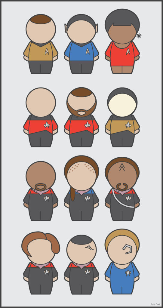 Icons Star trek, Popular tv series, Trek
