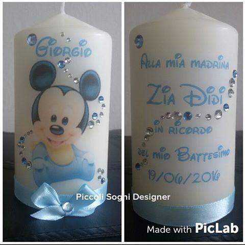 Amato Risultati immagini per candele decorate per battesimo | Candele FN07