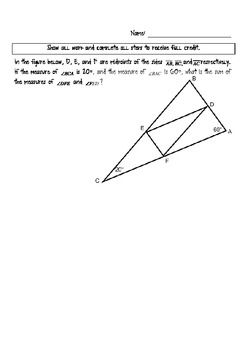 Critical Thinking Word Problems for Geometry   Geometry   Teaching