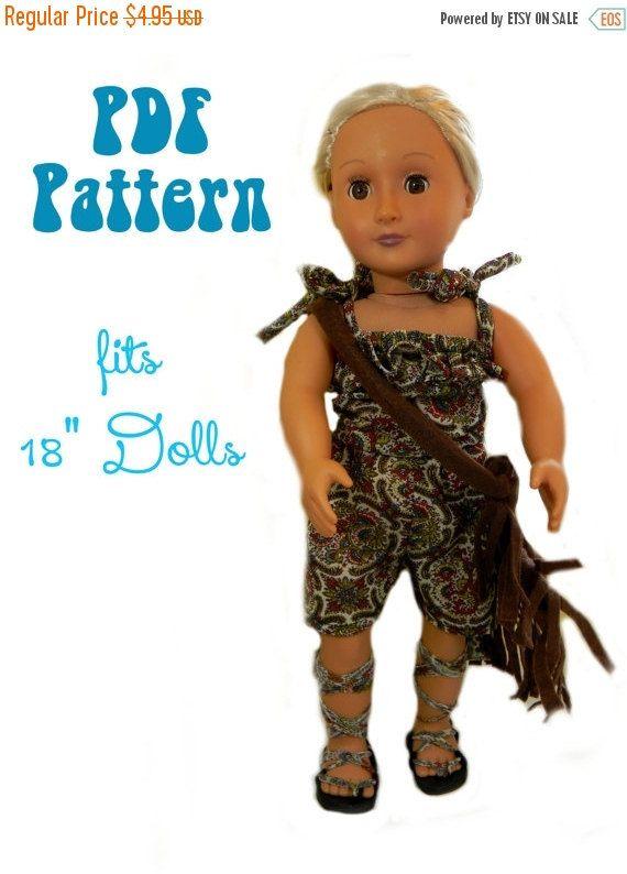 AG Doll Romper Pdf Sewing Pattern - Fits 18\