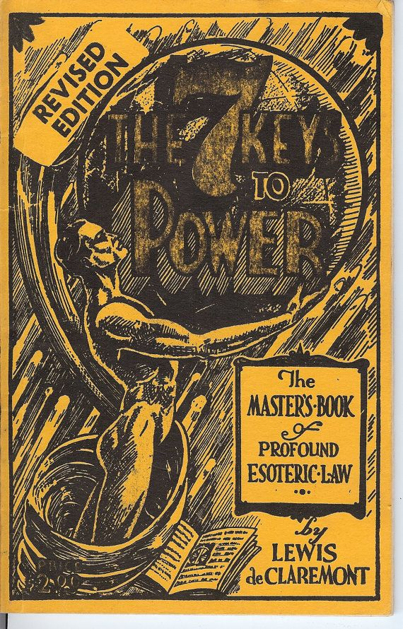 Vintage 1930's The Key to Power by Lewis de Claremont,c 1938 Revised