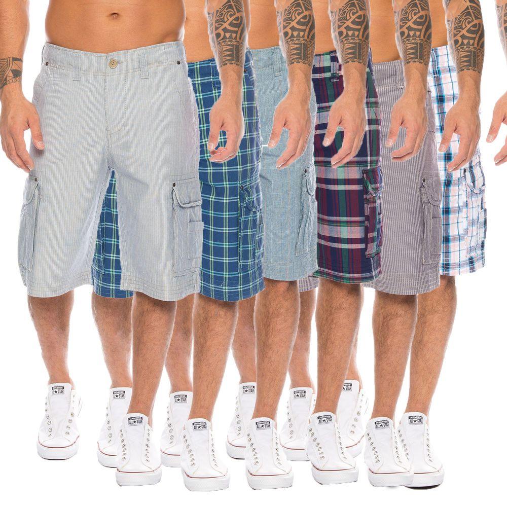 0ff768703aac7 Rock Creek Herren Bermuda Sommer Shorts Hose Capri Karo Shorts Cargo ...