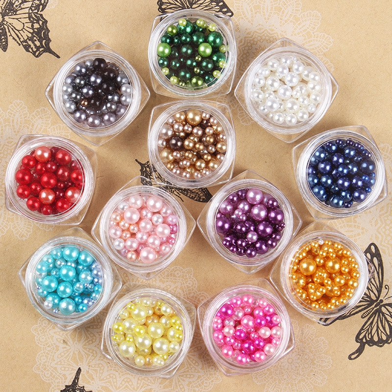 11.88$  Watch now - 12jar Sale Beautiful Color Rhinestone & Decoration Pearl for Nail art Decorations DIY Nails Accessoires  #buychinaproducts