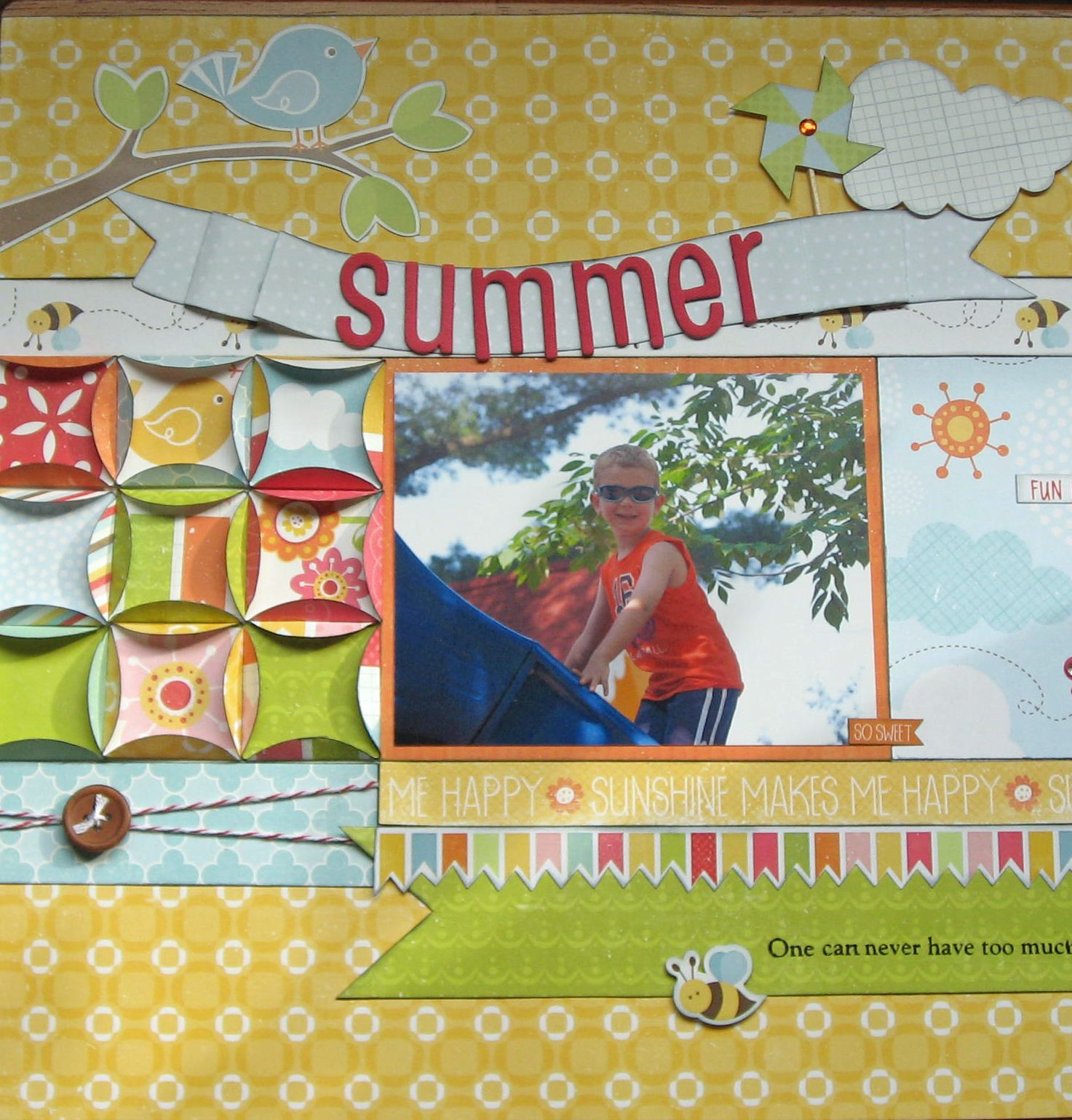 summer  scrapbook awesome paper folding techniques