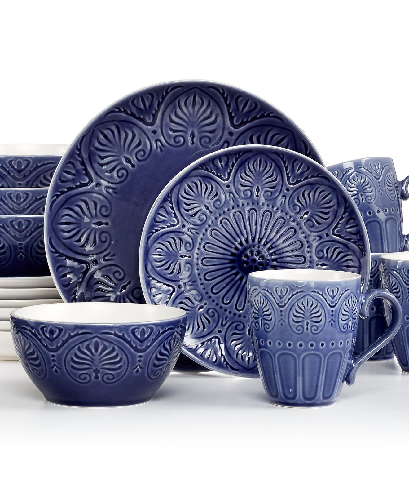 Pfaltzgraff Dolce Cobalt 16-Piece Set - Casual Dinnerware - Dining u0026 Entertaining - Macyu0027s  sc 1 st  Pinterest & Pfaltzgraff Dolce Cobalt 16-Piece Set - Casual Dinnerware - Dining ...