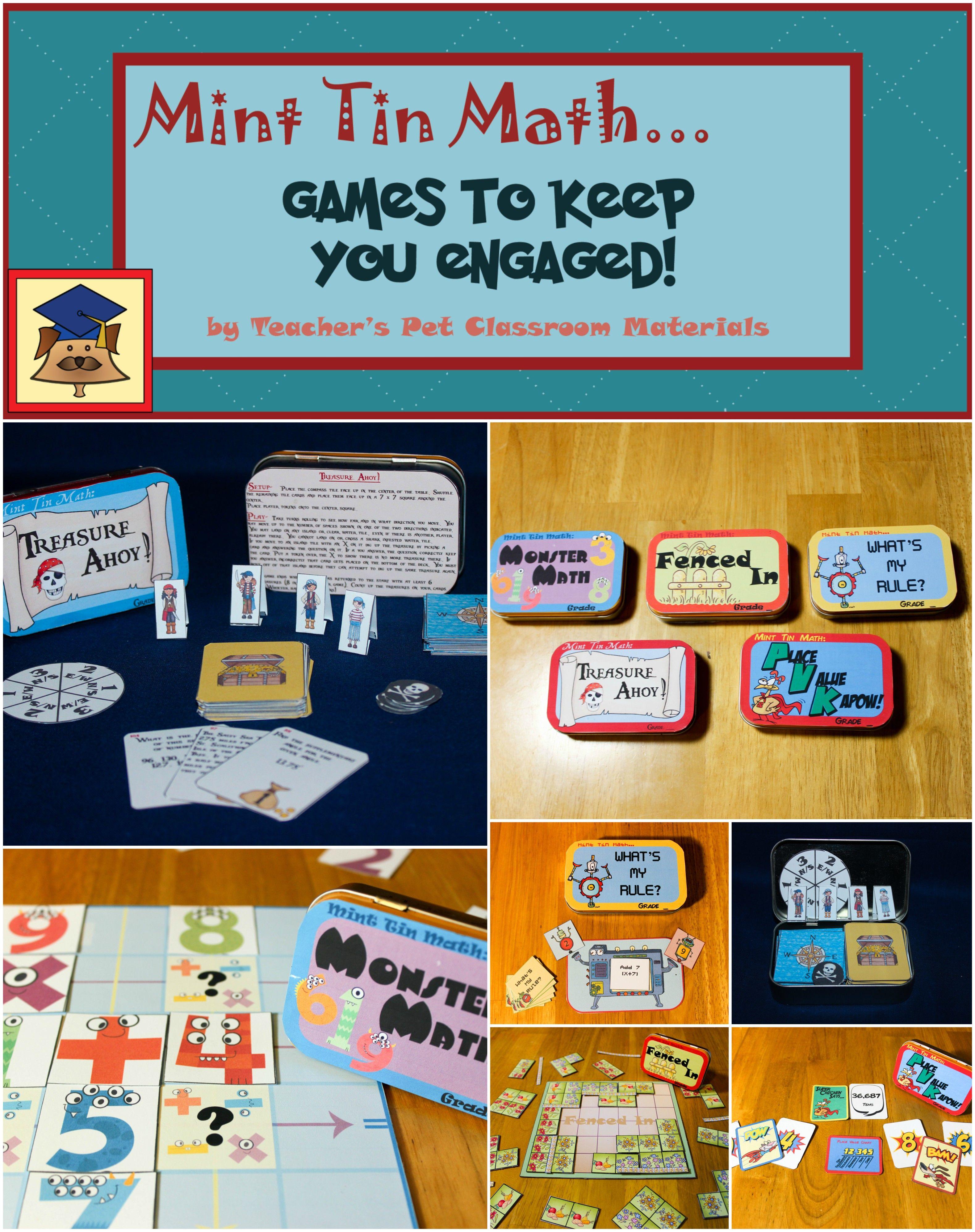 TEACHER\'S PET CLASSROOM MATERIALS offers five math skill games. Each ...