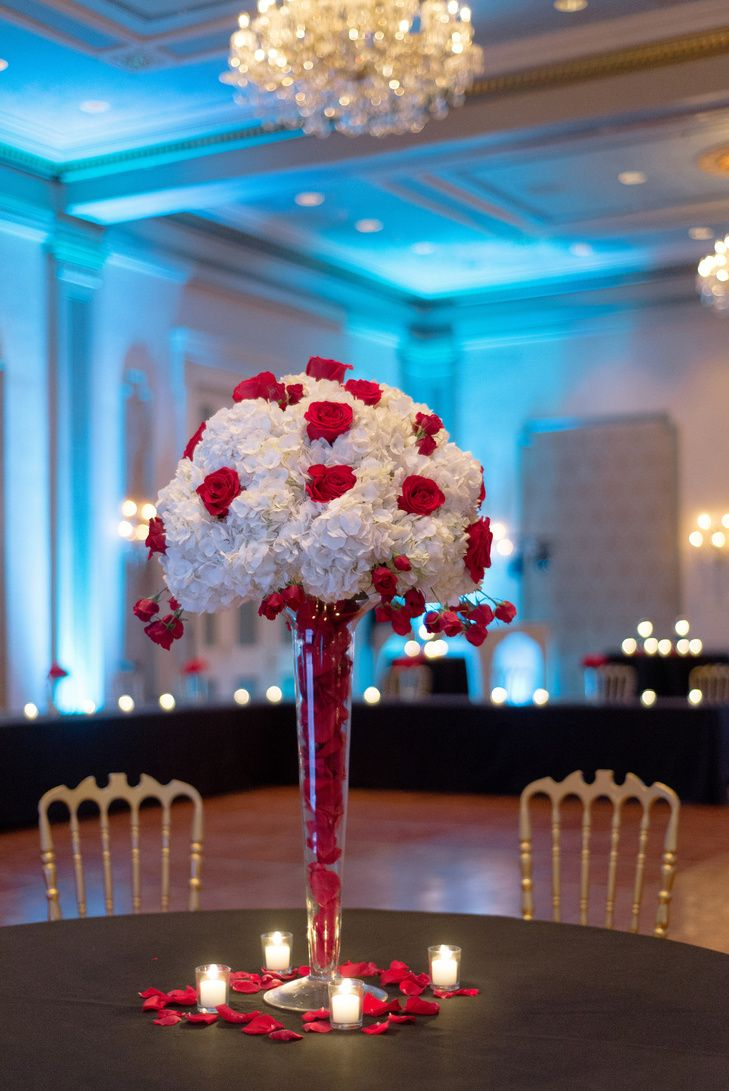 Image Result For White And Red Hydrangeas Wedding Centerpieces