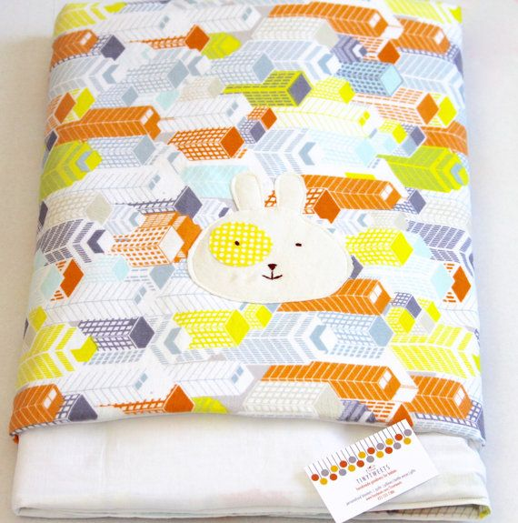 In My City Modern Baby Quilt /PlayMat In Flannel by tinytweets, $65.00